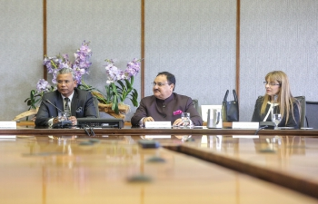 Hon. Minister J. P Nadda addressing at ANU & highlighting India's achievements of National health goals