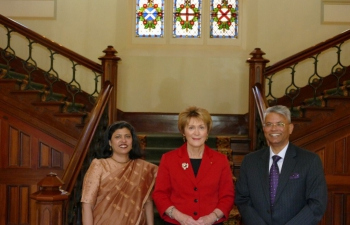 High Commissioner Dr A M Gondane and Mrs Varsha Gondane called on Govern