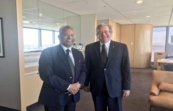 High Commissioner Dr A M Gondane with Chief Justice of Western Australia