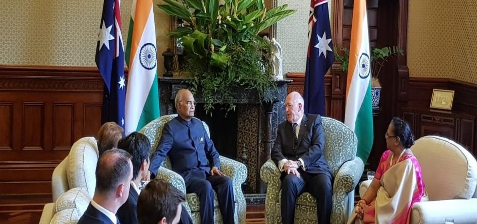 President of India Shri Ram Nath Kovind met Governor General of Australia Sir Peter John Cosgrove, AK, MC and his wife.