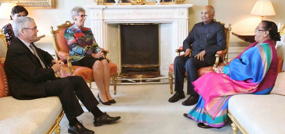 The President of India, Shri Ram Nath Kovind, met Hon'ble Linda Dessau, Governor of Victoria at Government House, Melbourne, Australia.