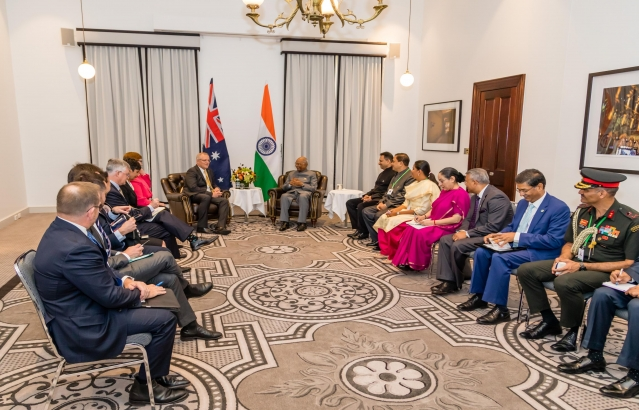 Hon. President meeting with PM of Australia on 22-11-2018
