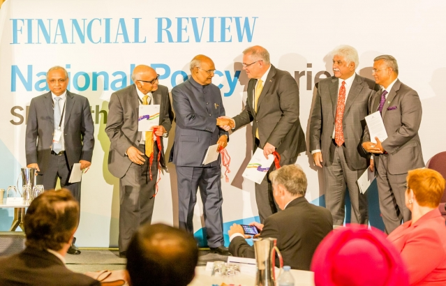 Hon. President at Australian Financial Review India Business Summit at Sydney on 22-11-18.