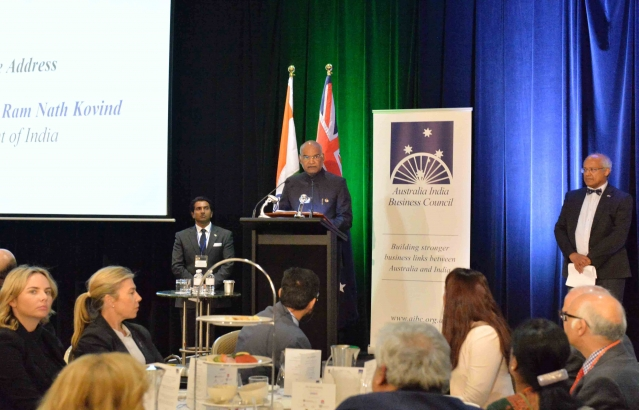 Hon. President at AIBC Events at Sydney on 22-11-18