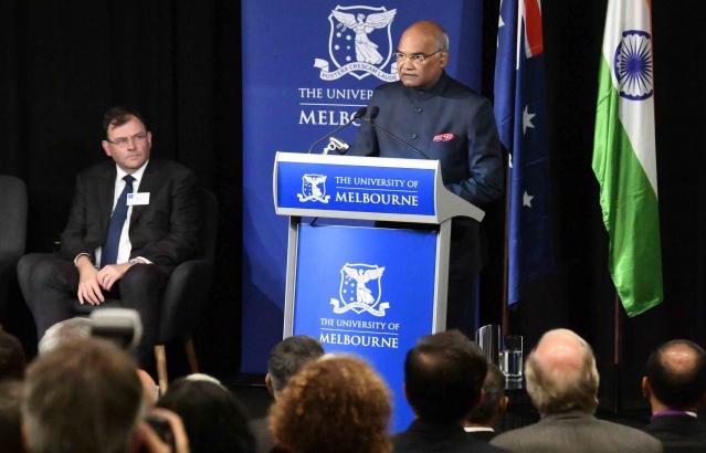 Hon. President at Sidney Myer Asia Centre, University of Melbourne at Melbourne on 23-11-18