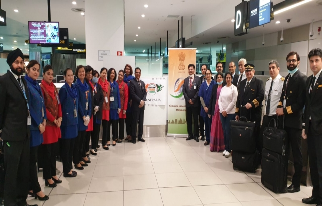 Vande Bharat Mission 3rd Special flight from Australia. AI 0309 to Bengaluru