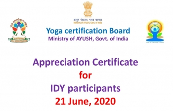 Appreciation Certificate for IDY participants