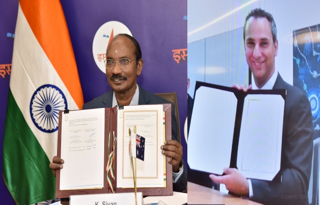 Signing of MOU between ISRO and Australian Space Agency
