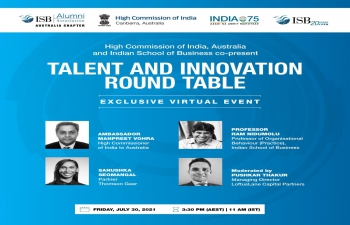 High Commission of India and Indian School of Business co-present Talent and Innovation round table